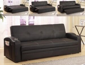 "#5310 – The ""Easton"" Adjustable Sofa in Black"