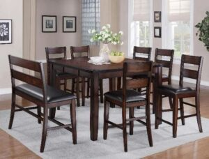 "#2760 – The ""Maldives"" Counter-Height Dining Set with Bench"