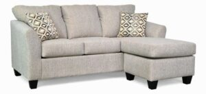 "#5275 – The ""Valerie"" Sectional in Alpha 59/Landmark Dust"