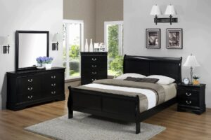 "#B3950 – The ""Louis Phillipe"" Bedroom in Black"