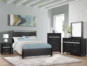 "#B9530 – The ""Gaston"" Bedroom in Black"
