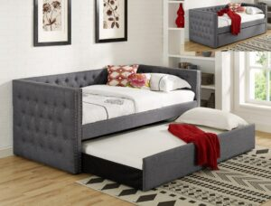 "#5335GY – The ""Trina"" Twin Daybed in Grey"