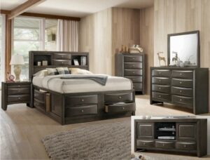 "#B4275 – The ""Emily"" Storage Bedroom in Grey"
