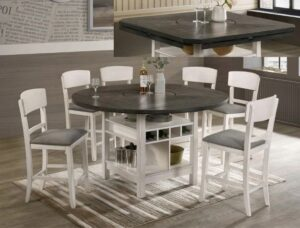 "#2849CG – The ""Conner"" Counter-Height Dining Set in Chalk"