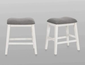 "#2785C24E – The ""Maskey"" Counter Stool in White – Set of 2"