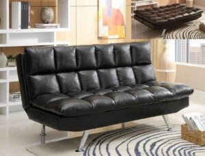"#5250BK – The ""Sundown"" Adjustable Sofa in Black"