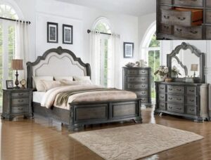"#B1120 – The ""Sheffield"" Bedroom in Antique Grey"
