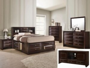 "#B4265 – The ""Emily"" Storage Bedroom in Dark Cherry"
