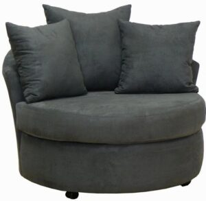 #650 – Barrel Accent Chair in Bulldozer Graphite
