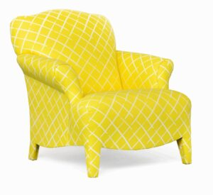 "#100 – ""Olivia"" Accent Chair in Core End Daffodil"