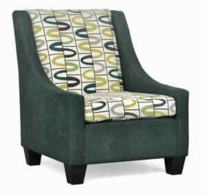 "#390 – ""Luna"" Accent Chair in Zenith 500/Lucky Alpine"