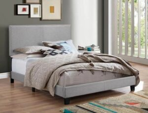 "#5271GY – The ""Erin"" Bed in Grey Linen"