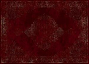 """""""Hudson 1090"""" Rug in Volcano Red, Available in Two Sizes"""