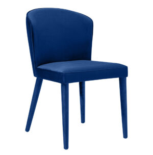 "The ""Metropolitan"" Chair in Navy Velvet"