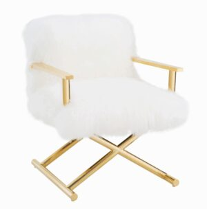 "The ""Jodie"" White Sheepskin Chair"