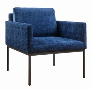 "The ""Canton"" Chair in Navy Textured Velvet"