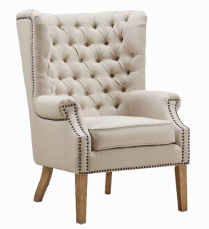"The ""Abe"" Chair in Beige Linen"