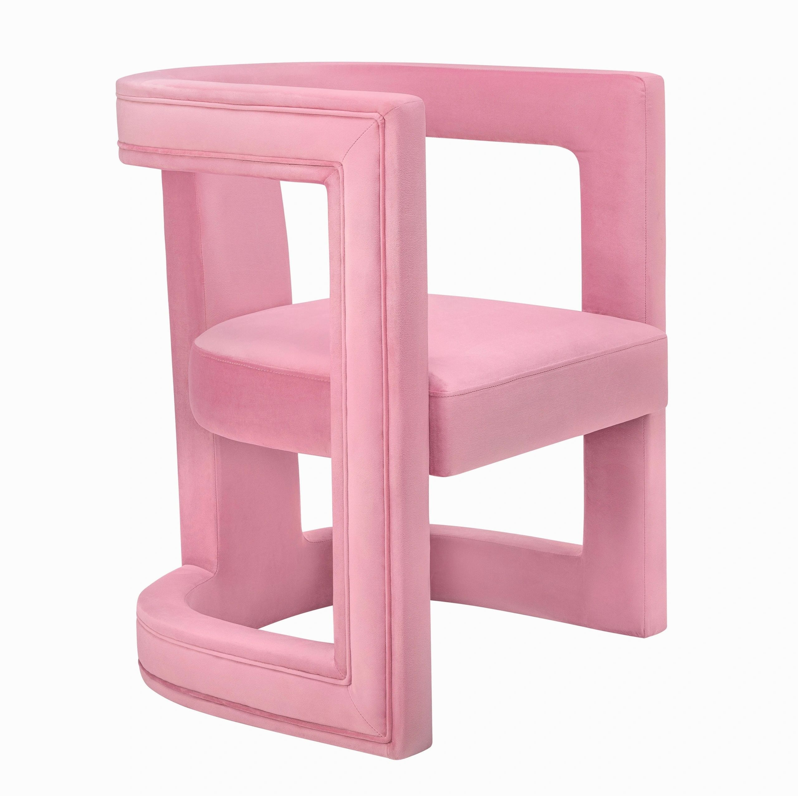 "The ""Ada"" Chair in Pink Velvet"