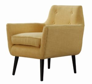 "The ""Clyde"" Chair in Mustard Linen"