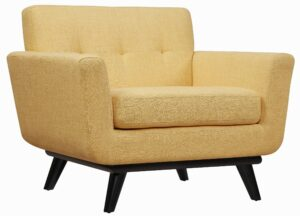 "The ""James"" Chair in Mustard Linen"