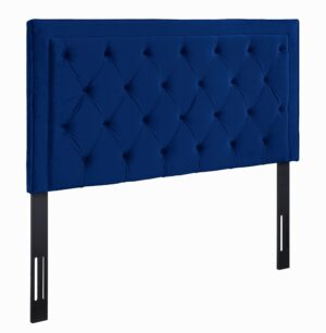 "The ""Nacht"" Headboard in Navy Velvet"