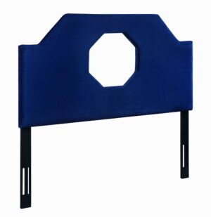 "The ""Noctis"" Headboard in Navy Velvet"