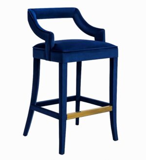 "The ""Tiffany"" Stool in Navy Velvet"