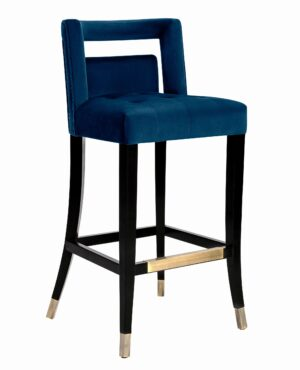 "The ""Hart"" Stool in Navy Velvet"
