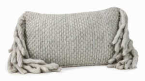 "The ""Afrino"" Wool Pillow in Grey"