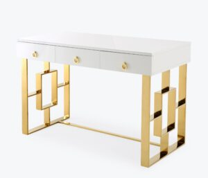 "The ""Audrey"" Lacquer Desk in White"