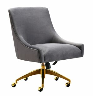 "The ""Beatrix"" Office Chair in Grey Velvet"