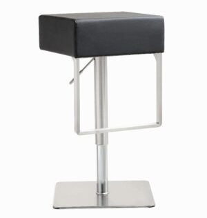 "The ""Seville"" Adjustable Swivel Barstool in Black"