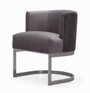 "The ""Eva"" Chair in Grey Velvet"
