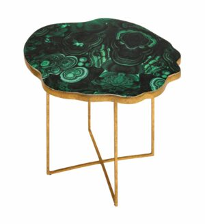 """The """"Lily"""" Agate Side Table"""