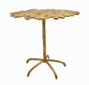 """The """"Freesia"""" Gold Side Table"""