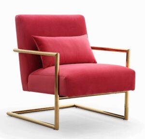 """The """"Elle"""" Chair in Pink Velvet"""