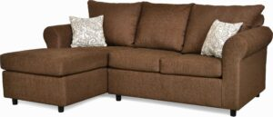 """#151 – The """"Leah"""" Sectional in Due Chocolate/Lizbeth Carob"""