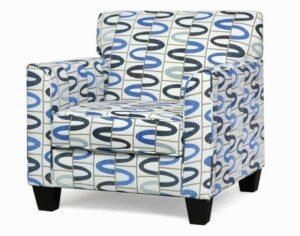 "#900 – ""Sara"" Accent Chair in Lucky Regatta"