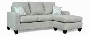 """#2800 – The """"Audrey"""" Sectional in Paradigm Mist/Lyon Snowy"""