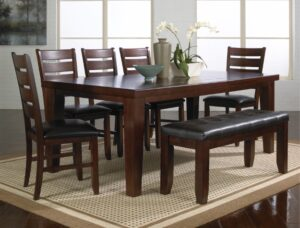"#2152 – The ""Bardstown"" Dining Set with Bench in Espresso"
