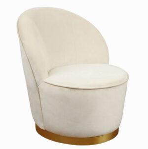 """The """"Julia"""" Chair in Ivory Velvet"""