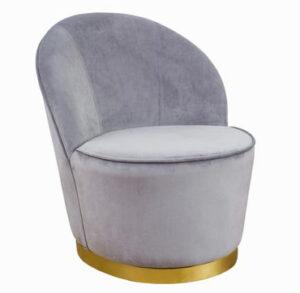 """The """"Julia"""" Chair in Grey Velvet"""