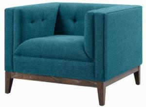"""The """"Gavin"""" Chair in Blue Linen"""