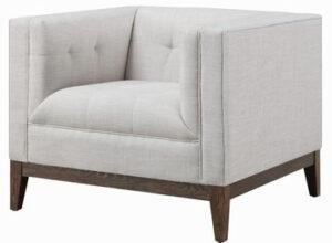 """The """"Gavin"""" Chair in Beige Linen"""