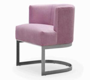 """The """"Eva"""" Chair in Blush Velvet"""