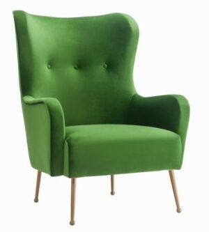 """The """"Ethan"""" Chair in Green Velvet"""