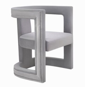 "The ""Ada"" Chair in Grey Velvet"