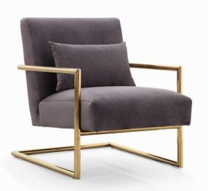 """The """"Elle"""" Chair in Grey Velvet"""