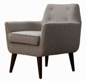 "The ""Clyde"" Chair in Beige Linen"