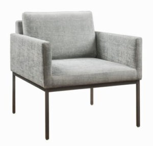 "The ""Canton"" Chair in Grey Textured Velvet"